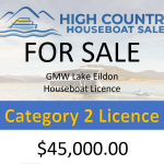 GMW Lake Eildon Category 2 License  SOLD